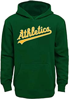 MLB Youth 8-20 Team Color Fleece Wordmark Logo Pullover Sweatshirt Hoodie