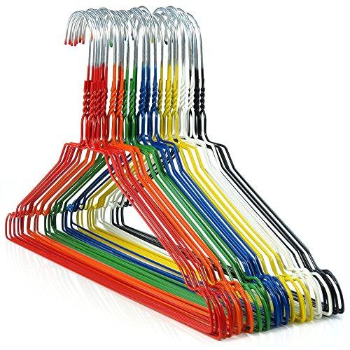HANGERWORLD 20 Grucce Appendiabiti 40cm in Metallo in Colori Assortiti Salvaspazio per Casa e Lavanderia