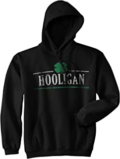 Hooligan Shamrock Funny St. Patrick's Day Unisex Drinking Hoodie for Paddys Day