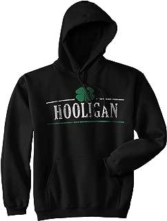 Crazy Dog T-Shirts Hooligan Shamrock Funny St. Patrick's Day Unisex Drinking Hoodie for Paddys Day