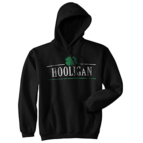 Crazy Dog T-Shirts Hooligan Shamrock Funny St. Patricks Day Unisex Drinking Hoodie for