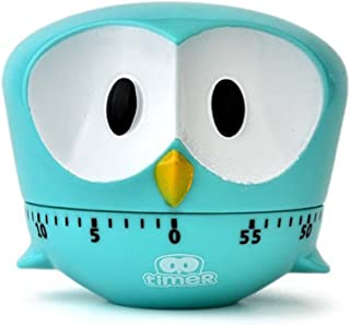 Cute Animal Panda Cooking Timers Mechanical Kitchen Timers Boiled Egg Timer for Study Teaching Games 8x8x6.8 cm Eagle:Blue