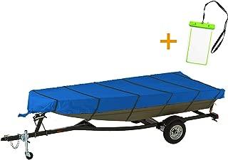NEXCOVER Jon Boat Cover, Marine Grade Waterproof Heavy Duty 300D Jon Boat Covers, Including Waterproof Phone Case