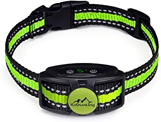 No Shock Bark Collar – Rechargeable Bark Control Device,w/ 2 Training Modes,Beep to Vibration and Strong Vibration,Smart C...