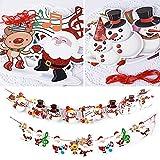 SERWOO 6 Stück Weihnachten Girlande Banner Wimpelkette Papier Girlande Weihnachtsgirlande Merry Christmas Girlande Weihnachtsmann Schneemann Weihnachten Deko (2.7M / Jede Girlande) - 5