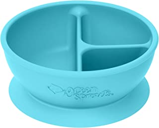 green sprouts Learning Bowl | Helps toddler develop independent eating skills | Heat-resistant silicone, Suction cup base ...