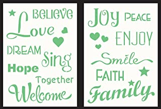 GSS Designs Pack of 2 Stencils Decor - 6