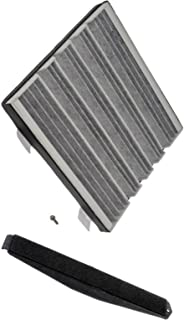 APDTY 112723 Cabin Air Filter Add-On Kit (Carbon Activated Charcoal Filter, Cover & Screws) 2007-2013 Escalade/Avalanche/Silverado/Suburban/Tahoe/Sierra/Denali/Yukon 23101674, 22759208