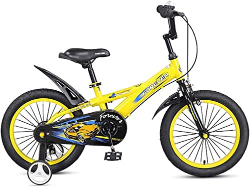 perfecto DT DT DT Bicicleta para Niños 14 Pulgadas 3-5-6-8 años Carro de bebé hombres y mujeres Niño Bicicleta Exquisito Interior Decoración Proceso Asiento Ajustable (Color   amarillo)  te hará satisfecho