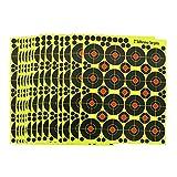 fritz-cell 25 dianas autoadhesivas tipo 3762 para armas, pistolas, pistolas de aire, airsoft, BB, diábolo, compatible con objetivos Splatterburst