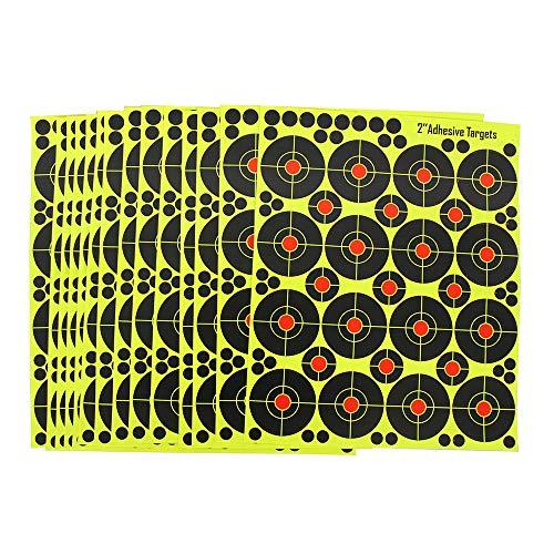 fritz-cell 25 Splitterziele Splittersticker Typ 3762 selbstklebend Zielscheibe für alle Gewehre, Pistolen, Luftgewehre, Airsoft, BB, Diabolo kompatibel mit Splatterburst Zielen