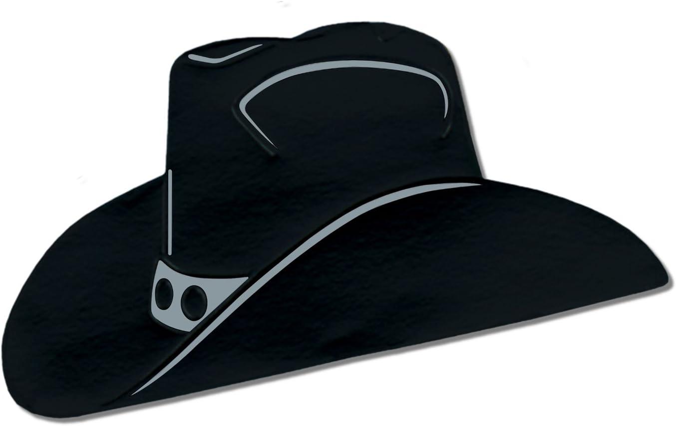 Foil Cowboy Hat Silhouette Black Party Accessory 1 Count Kitchen Dining