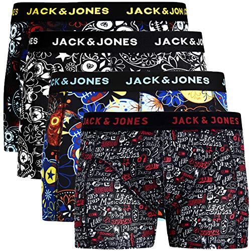JACK & JONES Trunks 4er Pack Boxershorts Boxer Shorts Unterhose S M L XL XXL (M, Paint #26)