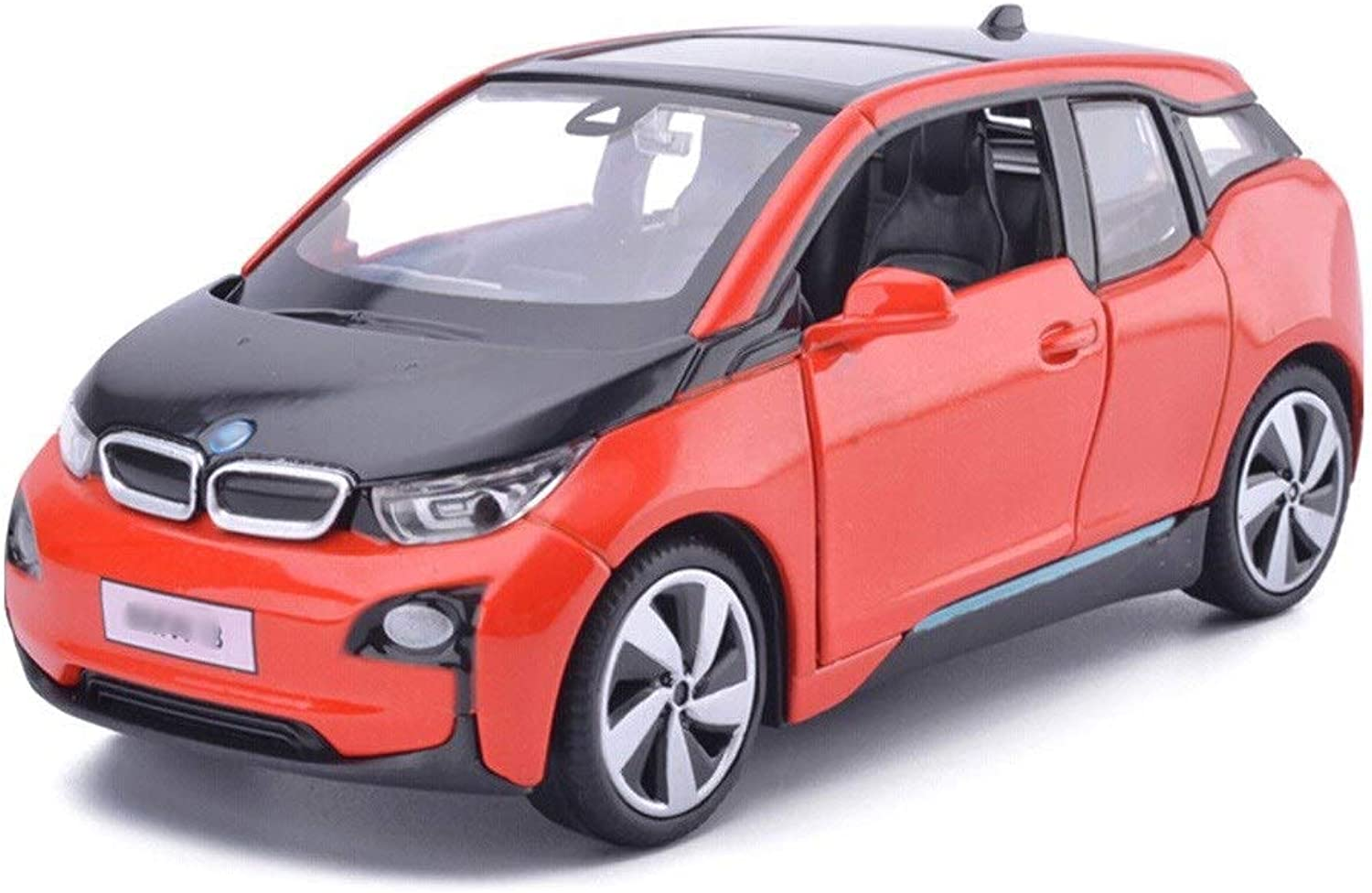 Model Car BMW I3 Model 1 32 Scale Model DieCasting Model Alloy Model Collection Decorative Gift Ornaments (color   Red)