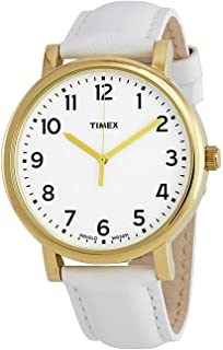 Timex Unisex-Adult Quartz Watch, Analog Display and Leather Strap T2P170