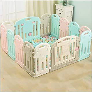 Foldable Playpen, Surreal Playpen for Baby, Baby Play Yards With Activity Panel - 14 Colourful Plastic Panels