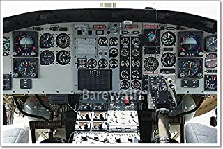 Barewalls Helicopter Cockpit Paper Print Wall Art (28in. x 42in.)
