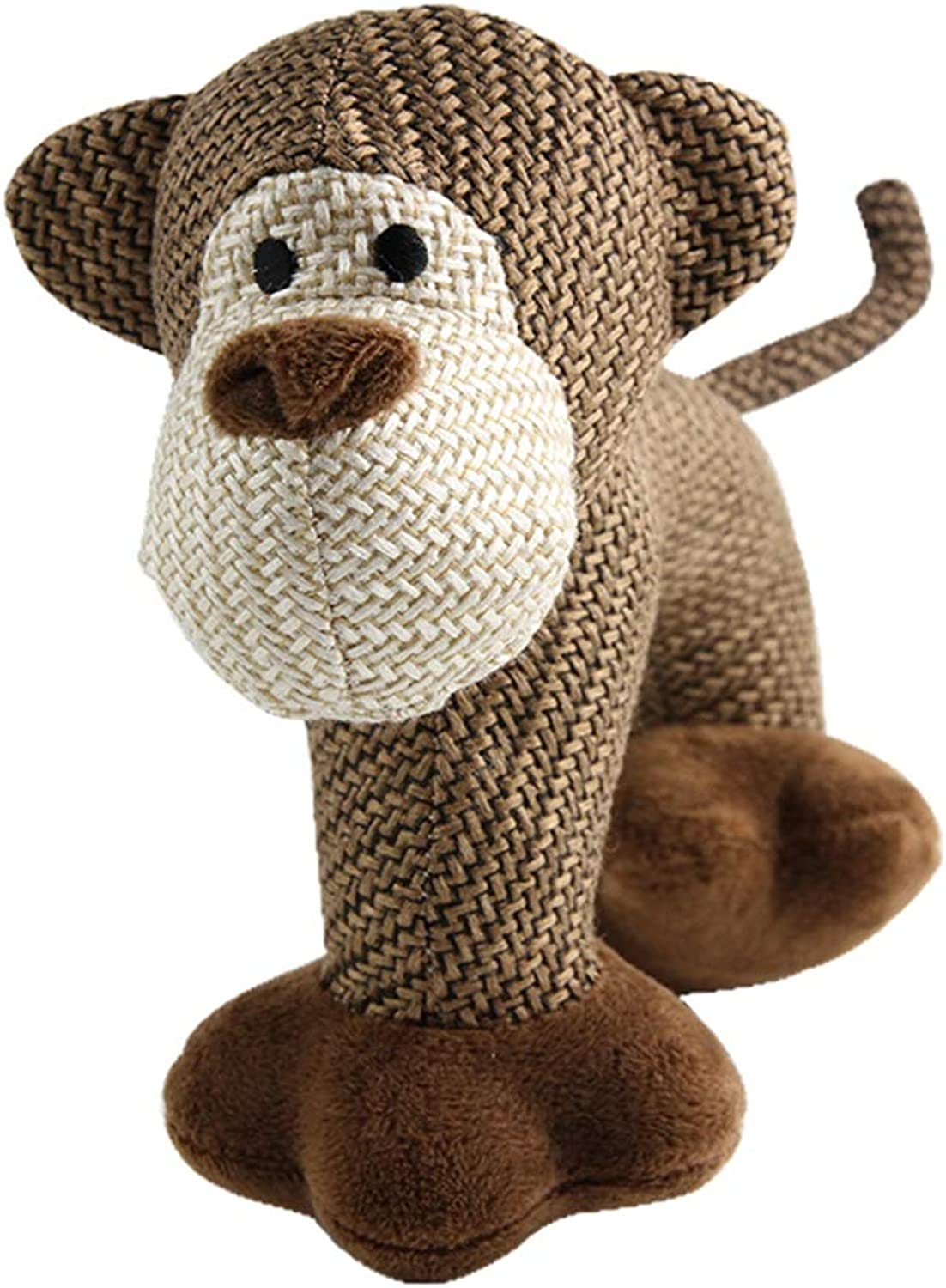 BLWX  Pet Toys  Dog Cat Linen Sound Accompanying Toys Teddy VIP Schnauzer Small Dog Toys pet Toy (color   E)