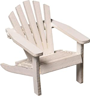 Timeless Minis JCD9190-564 Mini Adirondack Wood Chair White