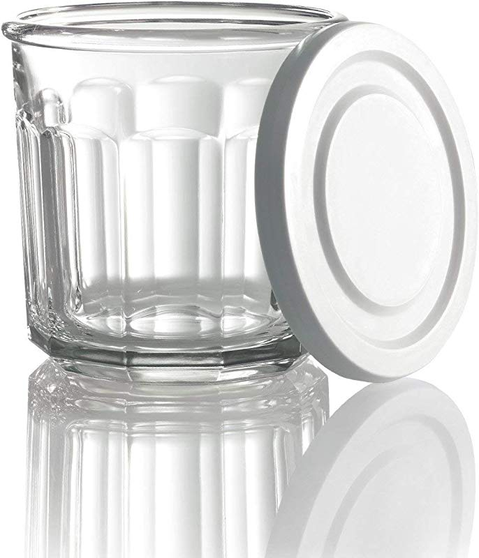 Arc International Luminarc Working Storage Jar Dof Glass With White Lid 14 Ounce Set Of 4 New Version