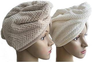 2 Pack Quick Dry Microfiber Hair Towel Wrap Hair Turban for Women Girl Absorbent Shower Cap,Dry Hair Cap,Fluffy Hair Dryin...