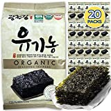 Kwangcheonkim Seasoned Seaweed Snacks Sheets – Organic 20 Individual Packs Roasted Premium 100% Natural Laver Kim Nori 4g 0.14 Ounce 김 のり 海苔 紫菜