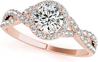 rose gold rough diamond ring