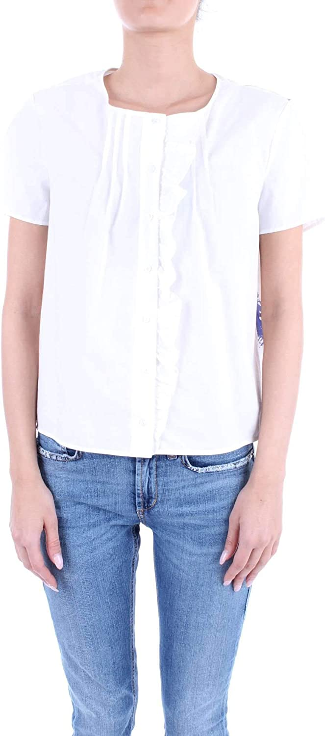 Manila Grace Women's Y638CS229 White Cotton Shirt