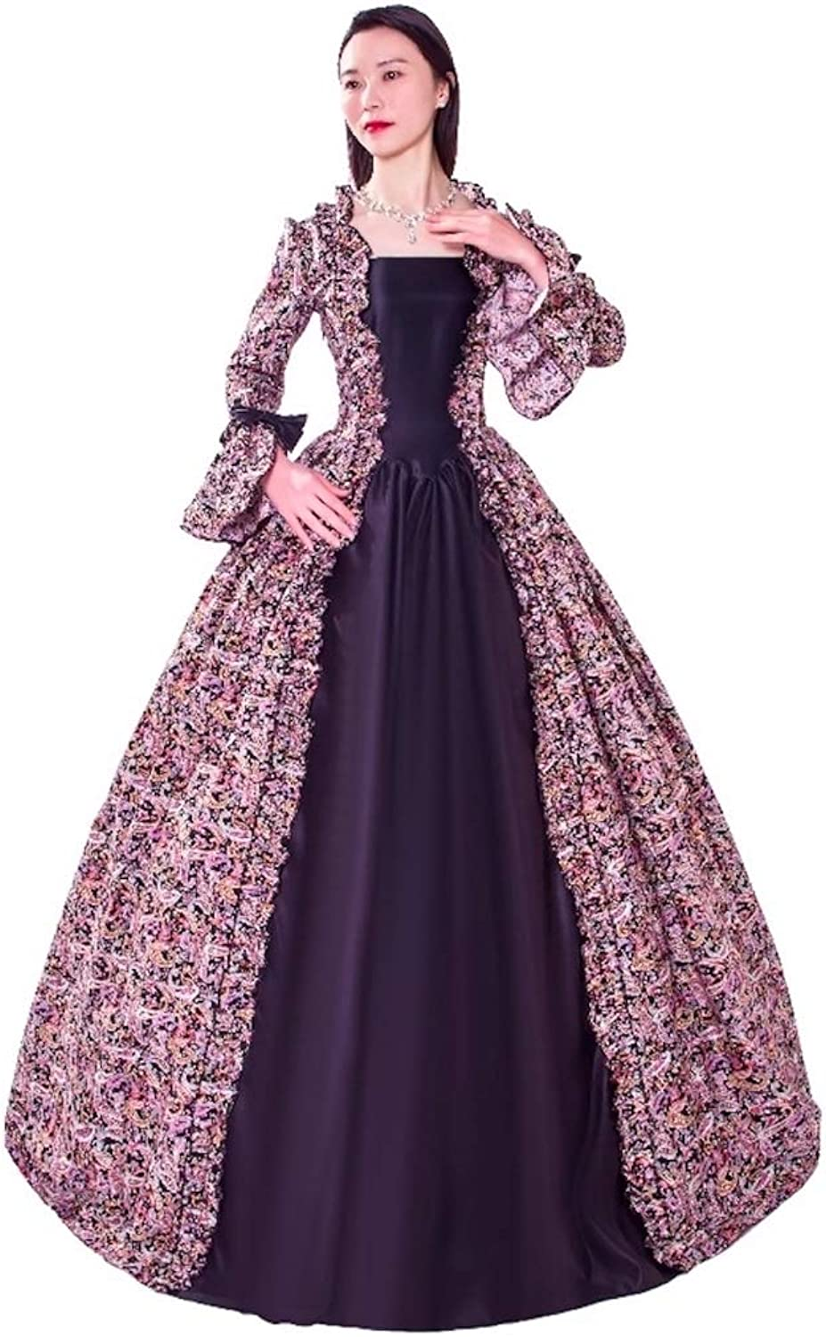 KEMAO Gothic Lolita Classic Traditional Lolita Vintage Inspired Victorian Rococo Medieval Cosplay Lolita Dress Red