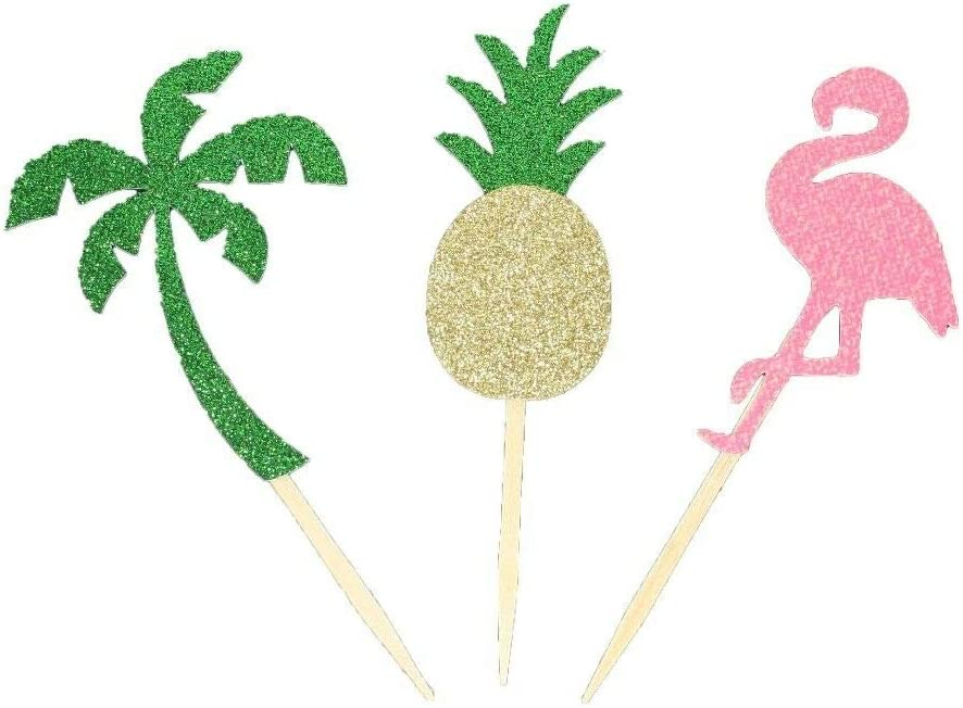 Pack of Easy-to-use 12 Flamingo - Pineapple Glitter Colorado Springs Mall 2
