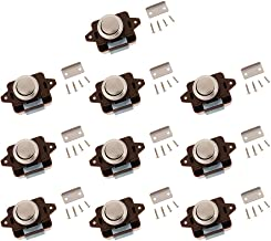 Homyl Keyless drukknop kast vergrendeling voor RV Camper - zinklegering kast Caravan Lock - Pack van 10, bruin