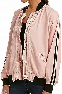 Hudson Black Striped Women's Medium Varsity Jacket