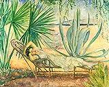 DIY Pintura por Números, DIY Kits de Pintura al Óleo De Lona Preimpresos para la Decoración De La Casa, Pintura famosa - Henri Lebasque-SAINT TROPEZ, LA HAMACA BAJO LOS PINOS(40x50cm, Frameless)
