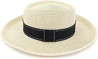 LiWen Zheng Summer Women Straw Sun Hat Visor Outdoor Seaside Sun Hat Protection Edging Wave Decoration Hat Flat Hat