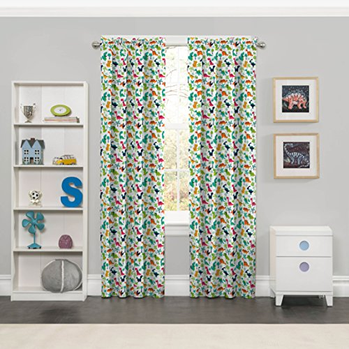 Eclipse Dippy Dinos Blackout Window Curtain Panel, 42 x 63, Multicolor