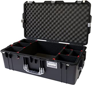 Black w/Silver Handles & latches Pelican 1615 case. with TrekPak Dividers. with Wheels.