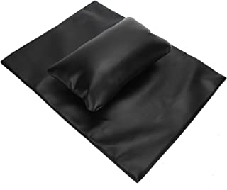 Nail Art Hand Pillow, Craftsmanship Good Rebound Visual Experience Nail Art Hand Rest Cushion Set, for Home Salon Shop(black)