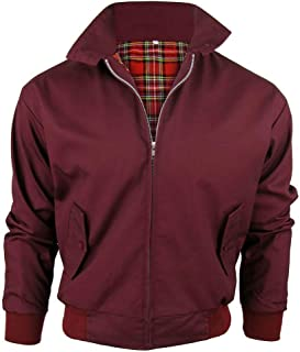 Army And Workwear Harrington Jacket with Tartan Lining British Made Mens Zip Up Classic Bomber