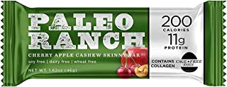 Sponsored Ad - PALEO RANCH Protein Skinny Bar, Cage-Free Egg White Protein, Grass-Fed Beef Collagen, Gluten Free, Soy Free...