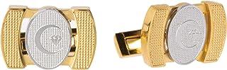Diamond Moon Stainless Steel Cufflinks for Men, Stainless Steel - 1800541240447