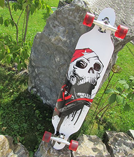 Longboard 41 Skull Board Totenkopf Top Qualität