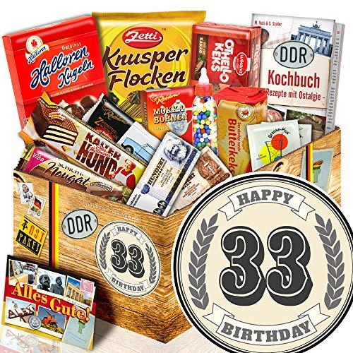 Geschenke zum 33. Geburtstag + DDR Paket + Geschenke 33. Geburtstag Frau