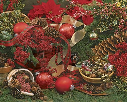 Springbok Farbes of Christmas 2000 Piece Jigsaw Puzzle by Springbok