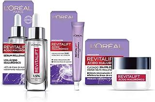 Kit Revitalift Ácido Hialurónico: sérum facial, crema día y crema de ojos. L'Oréal Paris