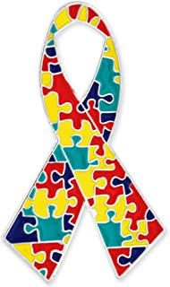 PinMart Autism Awareness Ribbon Puzzle Piece Enamel Lapel Pin
