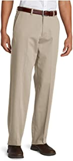 a79a00f4b9 Eddie Bauer Men's Performance Dress Flat-Front Khaki Pants - Relaxed Fit