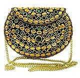 Gauri bolso de fiesta para niña Embrague de metal dorado Embrague de mosaico de metal Monedero monedero Caja de boda