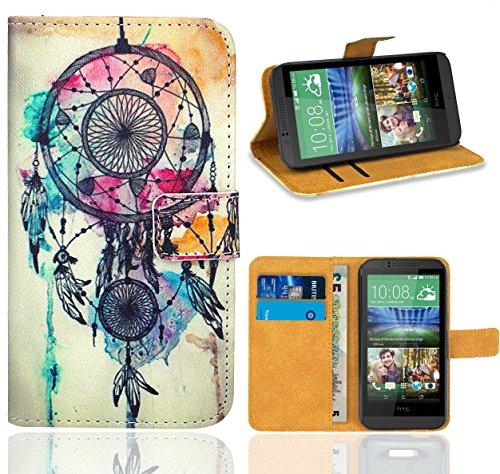 HTC Desire 510 Handy Tasche, FoneExpert Wallet Case Flip Cover Hüllen Etui Ledertasche Lederhülle Premium Schutzhülle für HTC Desire 510