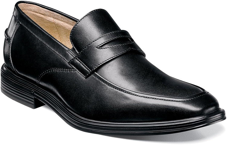 Florsheim Men's Heights Penny Slip-On Black Smooth Loafer 9.5 3E