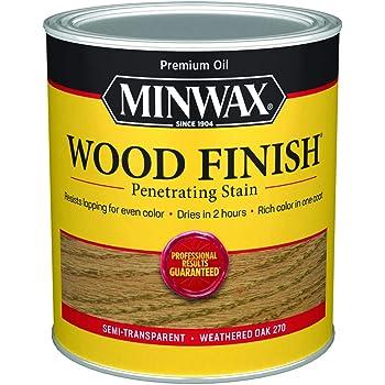 Minwax 700474444 Wood Finish Penetrating Stain, quart, Weathered Oak